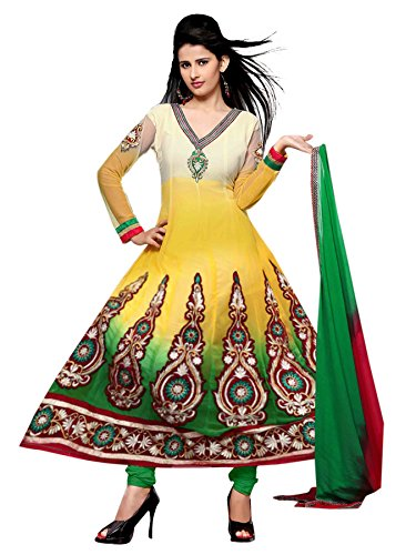 MayraFab Exclusive Heavy Designer Semi-Stitched Multi Colour Anarkali Salwar Suit