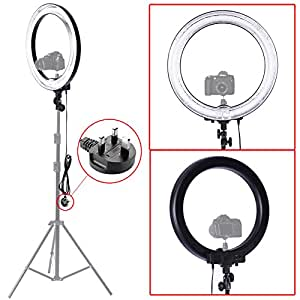 "Neewer Camera Photo/Video 18""Outer 14""Inner 600W 5500K Ring Fluorescent Flash Light"