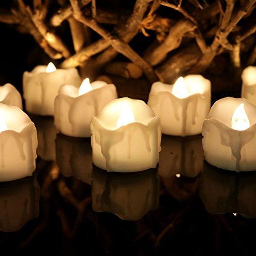 MagiDeal Velas Eléctricas LED sin Llama de Luz de Té Decoración de Partido Fiesta Boda Hogar - D, 40x32mm
