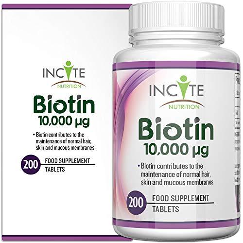 Vitaminas Crecimiento Cabello Biotina 10,000MCG 6