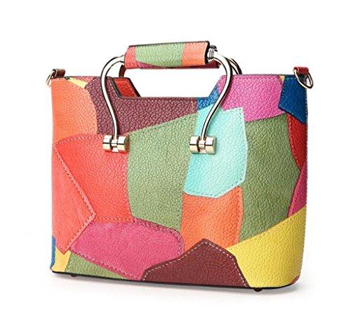 Great Strange BAG Great Strange Dame Handbag Single Schulter Diagonal Spannweite Stitching Tragetasche Shopping School Party , orange