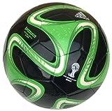 Adidas Fußball Brazuca Glider, WM 2014 Fußball, schwarz/grün, 5, S04469