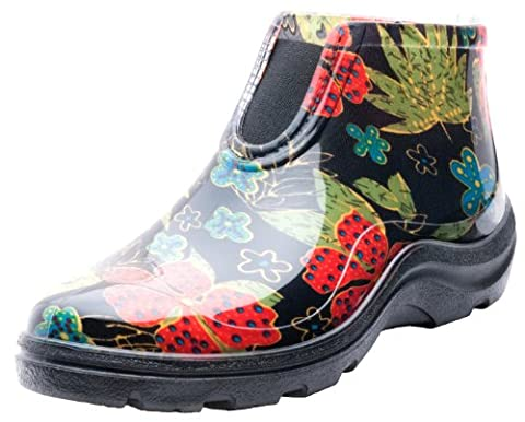 Sloggers 2841BK06 Women's Rain and Garden Ankle Boots with Comfort Insole, Size 6, Midsummer Black