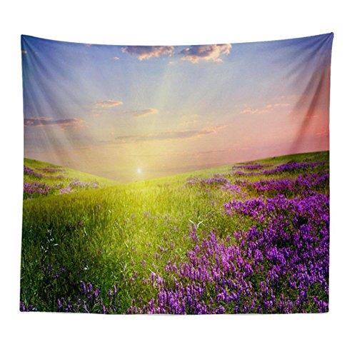 Komise Lavendel Muster Wandbehang Tapisserie Strand Vertuschen Tunic Tapisserie Tischdecke Home Decor 150 * 130 CM (Multicolour B) (König-decke-clearance)