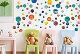 WALPLUS Colorata da Parete con Puntini, Vinile, Multicolore, 35x 24x 20cm