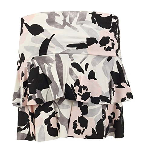 Fast Fashion Damen Rara Minirock Tarnung Armee Militärische Drucken Tutu Nude/Khaki