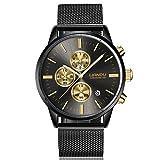 Orologio da Polso Impermeabile Unisex Orologio al quarzo Watch Semplice Moda Oro
