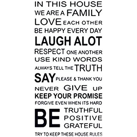 Atdoshop Love Family Rules Removable Decal Art Mural Home Decor Wall Sticker by atdoshop - Family Tree Parete