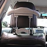 tsacte Auto Kleiderbügel Auto Kopfstütze Metall Chrom Aufhänger Shirt Aufsteller für saubere und Kleidung und Kleidung Aufhängen Sicher Hinter dem Sitz