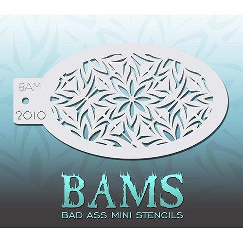Bad Ass Stencils gefrorene Blumen Mini-Schablone (Halloween Gefrorenen Make-up)