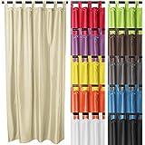 MIADOMODO Vorhänge Vorhang Gardine Verdunklungsgardine mit Schlaufenaufhängung Blickdicht in verschiedenen Farben und Größen