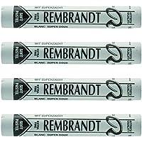 Rembrandt en colores pastel suave de 4 piezas blanco super suave 5 T3199-101-5