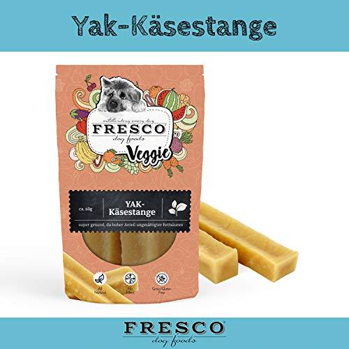 Fresco Dog Hundesnack Snack für Hunde Belohnung Diät gesund fettarm Yak Käsestangen Größe L