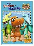 Dino-Zug: Mein Sticker-Malspaß: Mit über 30 Stickern