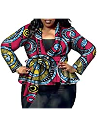 Sankt - Chaqueta para Mujer, diseño Africano, Talla Grande