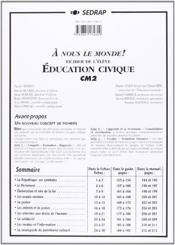 nous le monde ! CM2 - ducation Civique CM2 (Le dossier photocopier)