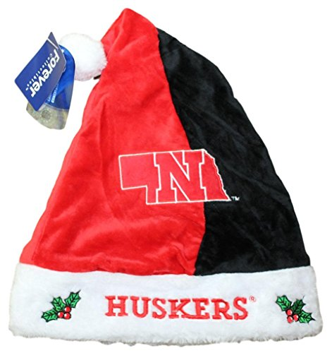 Hat Nebraska (Nebraska Cornhuskers 2017 NCAA Basic Logo Plush Christmas Santa Hat)