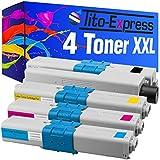 PlatinumSerie® 4 Toner-Kartuschen XXL für Oki C310 Black Cyan Magenta Yellow C510DN C511DN C530DN C531DN kompatibel zu Oki 44469803 44469706 44469705 44469704