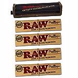 Raw Set bestehend aus: 1x KingSize Drehmaschine verstellbar aus Ecoplastic 110mm Slim & Normal aus Hanfplastik + 4x Raw Connoisseur booklets papers King Size Slim + Filter