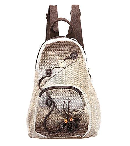 Imagen de yaancun mujer casual  de tela  escolares  de colegio bolsos de viaje con tejeduría mariposa