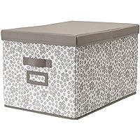 IKEA ASIA STORSTABBE - Caja con tapa, color beige