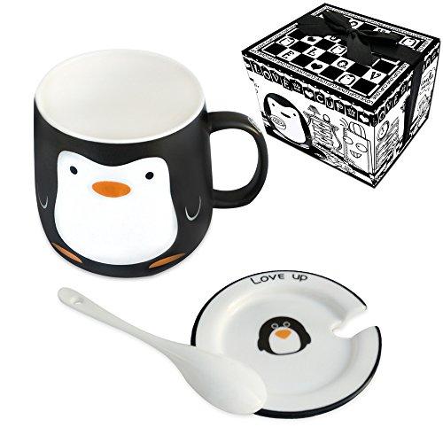 Kaffee Tasse Tee Milch Cup 11Oz Vier Animal Design Home und Büro Pinguin - Milch Mikrowelle Tasse