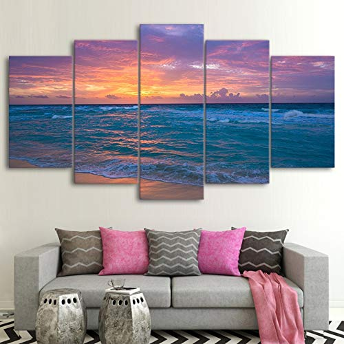 Mmwin Canvas HD Print Modular Pictures 5 Piece/Pcs