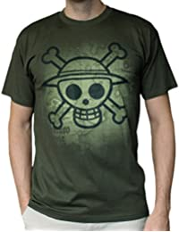 T-Shirt 'One Piece' - Skull With Map Used - Kaki - Taille L