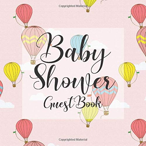 ok: Up Up and Away Hot Air Balloon Theme - Gender Reveal Boy Girl Signing Sign In Guestbook, Welcome New Baby with Gift Log ... Prediction, Advice Wishes, Photo Milestones ()