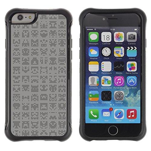 Graphic4You ALIEN SYMBOLS Muster Shockproof Anti-Rutsch Weichen Hülle Case Tasche Schutzhülle für Apple iPhone 6 / 6S Design #15