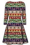 Weihnachtskleid mehrere Streifen