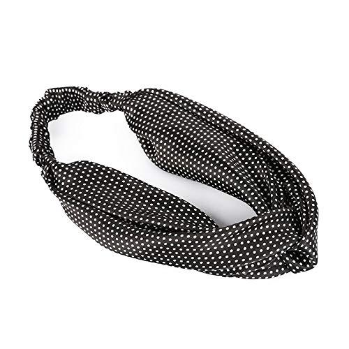 Sonnencreme Pflaumenmuster Reise Korea elastische Kreuzwelle Punkt Haarband Damen Stirnband knallt breite Seite Yoga Sport w