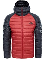 The North Face M Trevail Hoodie Chaqueta, Hombre, Cardinal Red/Asphalt Grey, M