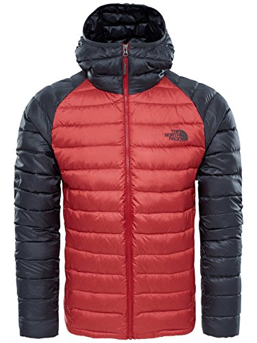 The North Face Water Repellent Trevail Men's Outdoor Down Jacket available in Cardinal Red/Asphalt Grey - 2X-Large