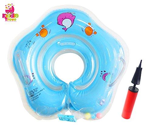 Kleinkind Kinder Schwimmender Schwimmen Ring Aufblasbarer Baby Schwimmring Kommt mit einer Hand-Schnellpumpe By Endureal (Blau)