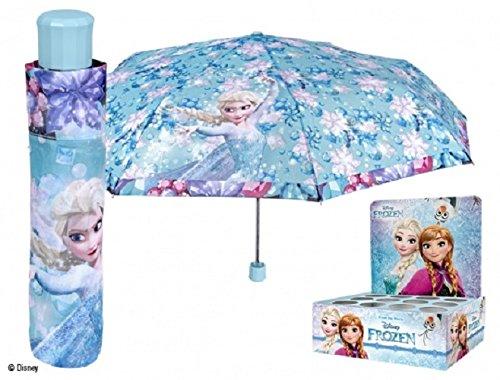 Preisvergleich Produktbild Perletti perletti5021350x 8cm Girl Mini 3Abschnitte bedruckter Frozen winddicht Regenschirm mit Display Box