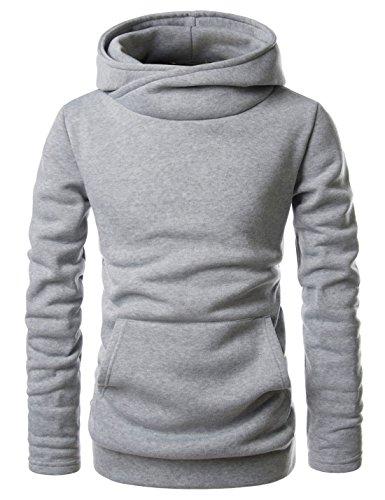 Nearkin Herren Kapuzenpullover, Durchgehend X-Large Gr. Small, NKNKH510-GRAY (Big S Shirts Men ' Tall Dress And)