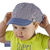 Gorro infantil para niños (100% algodón, primavera, verano, visera, de 9 a18meses, 2 a3años) azul Denim Blue Talla:9-12 months 46cm