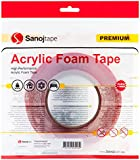 Sanojtape Heavy Duty Double Sided Acrylic Clear Mounting Tape 12mm x 10m