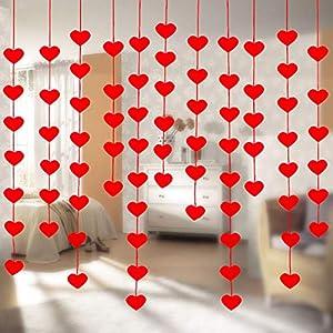 Corazón Guirnalda Cortina, 20 Piezas