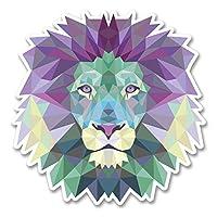 2 x 10cm Abstract Lion Vinyl Sticker Laptop Tablet Car Tiger Cat Animal #6223