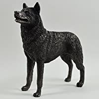 Siberian Husky Cane Statua in bronzo 14cm