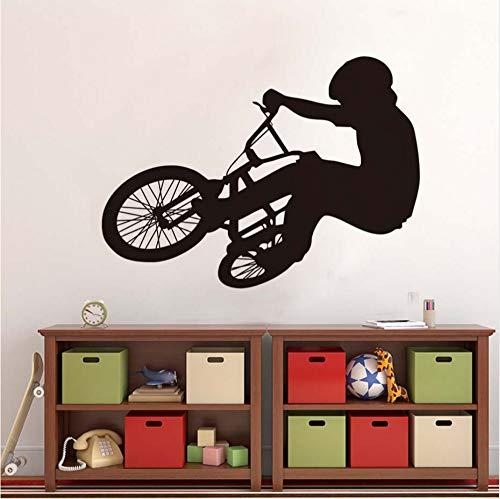 Lkfqjd Bike Reader Silhouette Wandaufkleber Frische Modellierung Fahrrad Wandkunst Pvc Tapete Für Kinder Schlafzimmer Wohnkultur