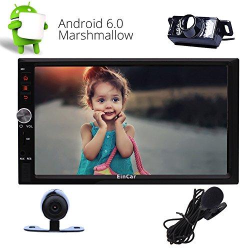 Eincar 7-Zoll-Android-Autoradio-Doppel-DIN-Radio in Dash GPS Navigation Touchscreen 1080P Video Player Quad-Core-Sat Nav, Unterst¨¹tzung Wifi Bluetooth FM / AM RDS USB / SD / 3G / 4G / WIFI OBD2 / Ap Sat-core