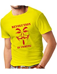 Camisetas hombre The Revolution Is Coming - the Anonymous hackers mask
