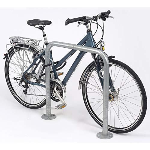 Arceau pour vélos TRUST - galvanisé à chaud, avec anneau - longueur 750 mm, lot de 3 pcs - arceau range-cycles arceaux range-cycles range vélos support arceau cycles support pour bicyclettes support pour cycles support pour vélos supports arceaux cycles