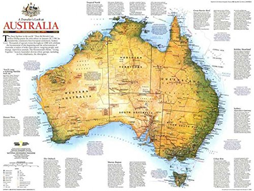 The Museum Outlet Reproduktion eines Poster präsentieren-Australien-Traveller 's Look (1988)-61x 81,3cm Poster Prints Online kaufen