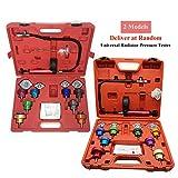 PRIT2016 14 pezzi Sistema di raffreddamento del tester di pressione del radiatore universale + calibro + adattatori Kit rilevatore di perdite con custodia