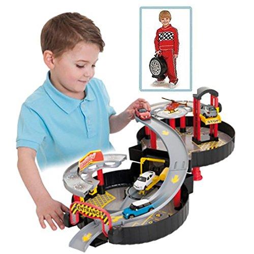 Générique Circuit de Voitures Garage - Facilement transportable - Forme Roue