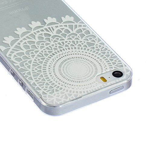ZeWoo TPU Schutzhülle - BF003 / Wunderbar Baum - für Apple iPhone 5 5G 5S Silikon Hülle Case Cover BF005 / Weiß Muster
